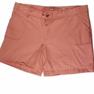 Riders by Lee Womens Mid Rise Shorts 20M Coral